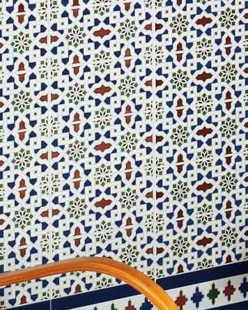 Oriental tile Alhambra|blue