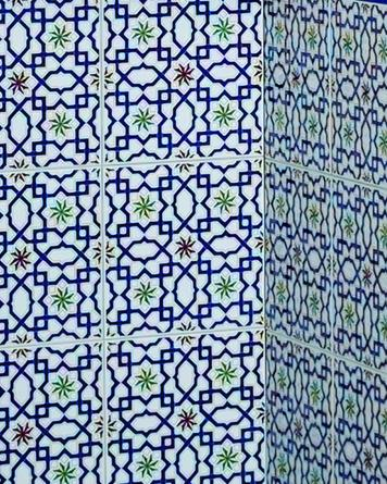Marokkanische Fliese M-22|blau