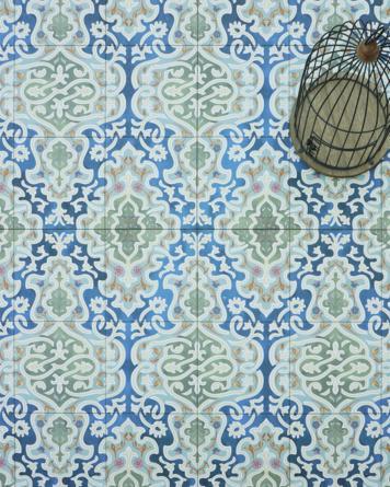 Oriental floor tile...