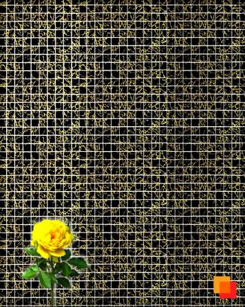 Glass mosaic black gold