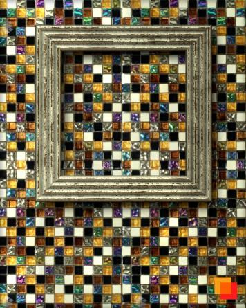 Glass mosaic colorful shiny...
