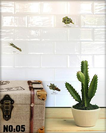 Artisan Decor Mix Herb - white