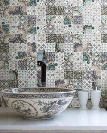 Maxxi Mosaik Ortigia|blau