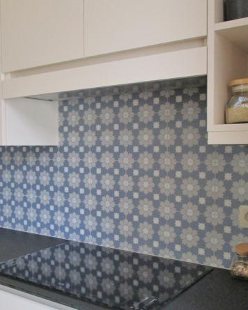 Abril cement tile look|blue