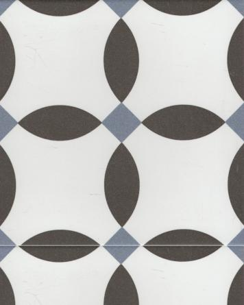 Chere cement tile look - black