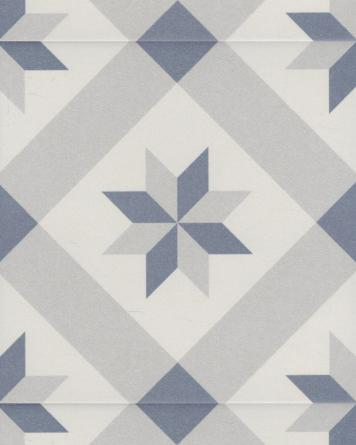 Dori cement tile look - blue