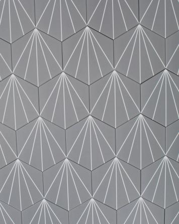 Hexagon Tiles Dark Grey...
