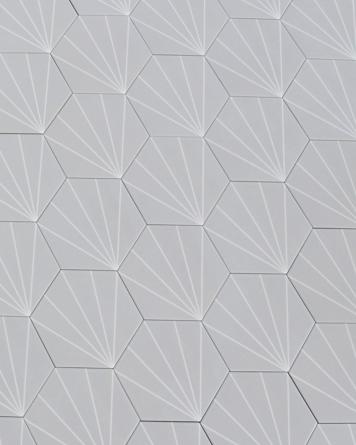 Hexagon Tiles Light Grey...