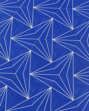 Sechseck Fliesen Blau...
