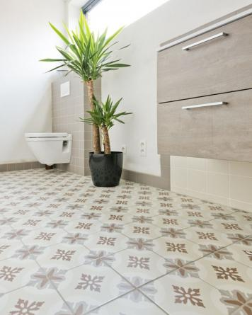 Evora cement tile look - brown