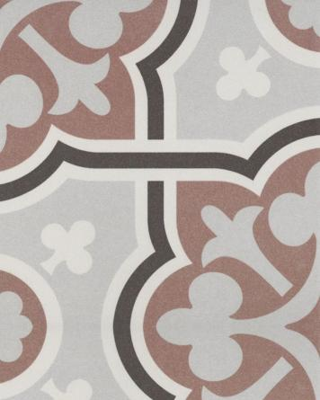 Flow cement tile look|brown