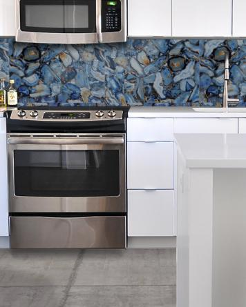 Stony azul poliert 60x60 cm -