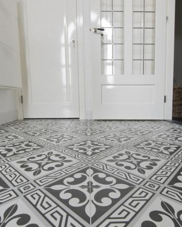 Juliette cement tile look|grey