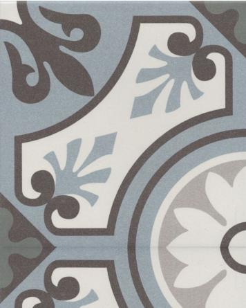 Lilou cement tile look|blue