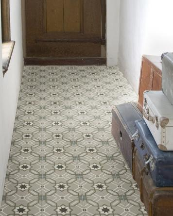 Odie cement tile look - grey