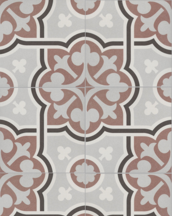 Flow cement tile look - brown