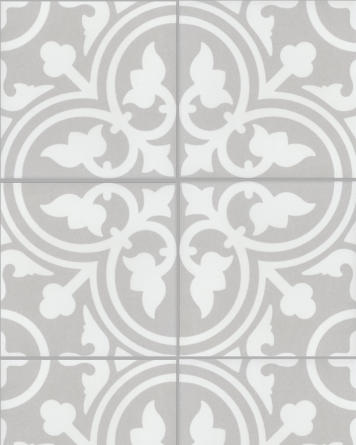 Flavie cement tile look|grey