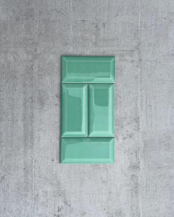 Metro Tile Green 7.5x15 cm -