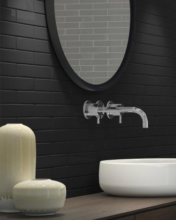Farrow Black Glossy 5x25 cm -