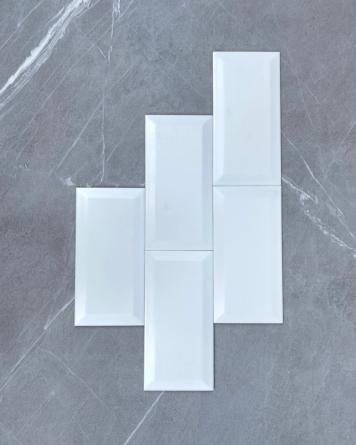 Metro Tile White Dull 10x20...