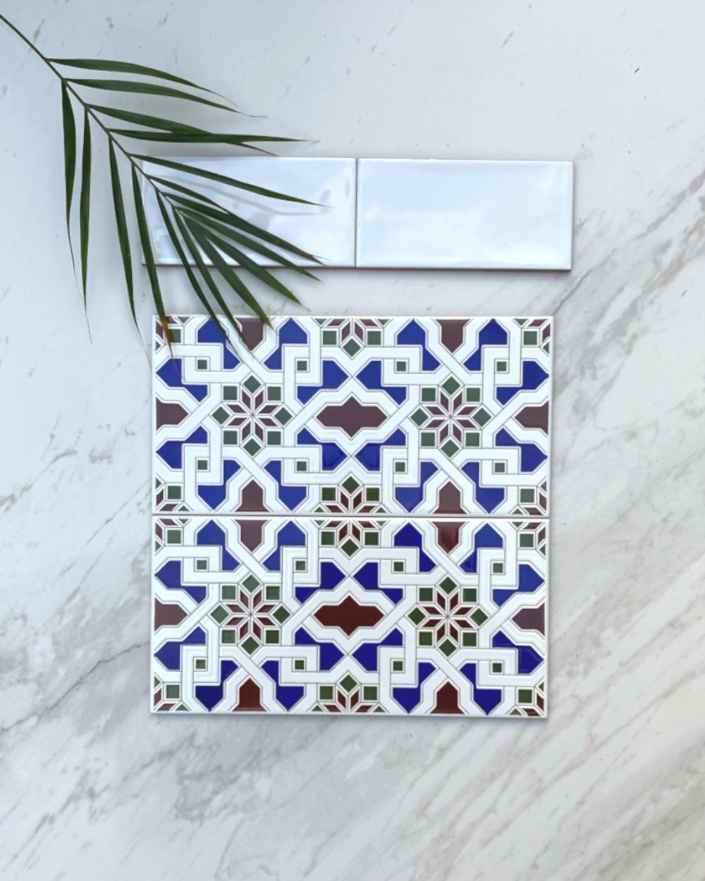 Orientalische Fliese Alhambra 20x20 cm