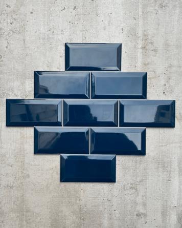 Metrofliesen Blau 7,5x15 cm