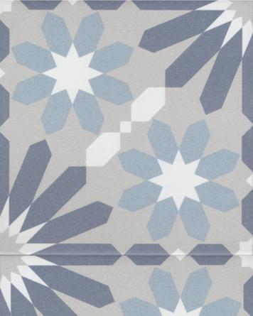 Syrah Bleu Zementfliesen Optik