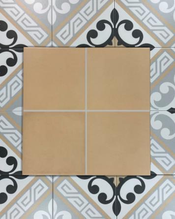 Cement tiles beige 20x20 cm -