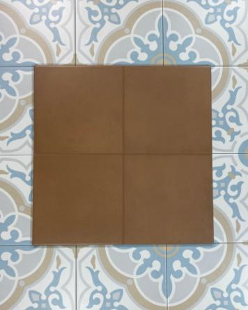 Cement tiles marron 20x20...