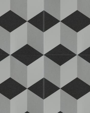 Victor cement tile look|black