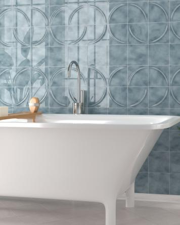 70s Tiles Blue Acro Azul...