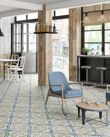 FS NIJAR vintage tile|blue