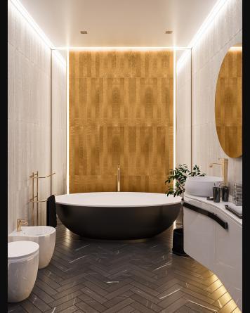 Gold Tile Mela 25x75 cm -