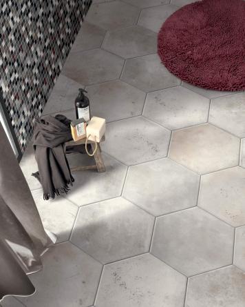 Hexagon Tiles Miami White...