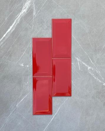 Metro Tiles 10x20 cm Red...