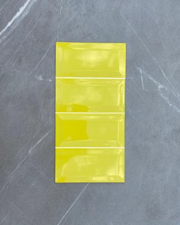 Metrofliesen Gelb 10x20 cm...