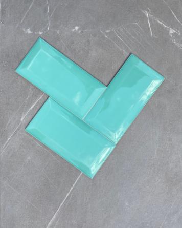 Metrofliesen Grün 10x20 cm...