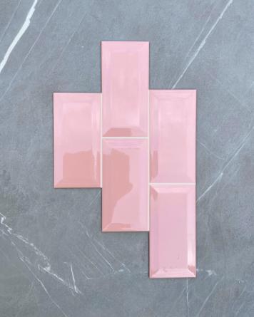 Metro Tiles Pink 10x20 cm...