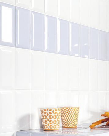 Metro Tiles White Shiny...