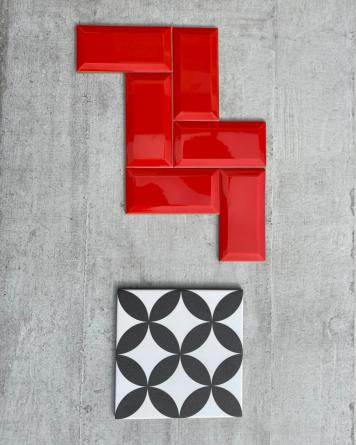 Metro Tiles Red Shiny...