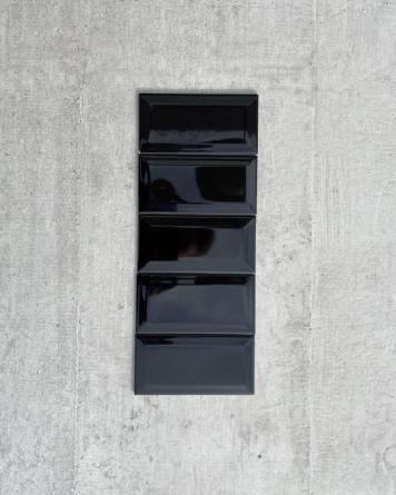 Metro Tiles Black Shiny...