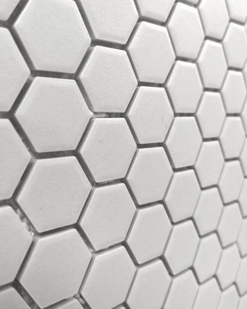 Sechseck Mosaik Weiß Matt...
